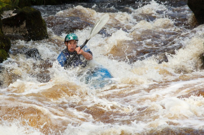 Kyaking the River Rapids