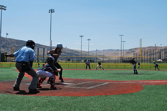 Baseball is popular at Golden Eagle Park