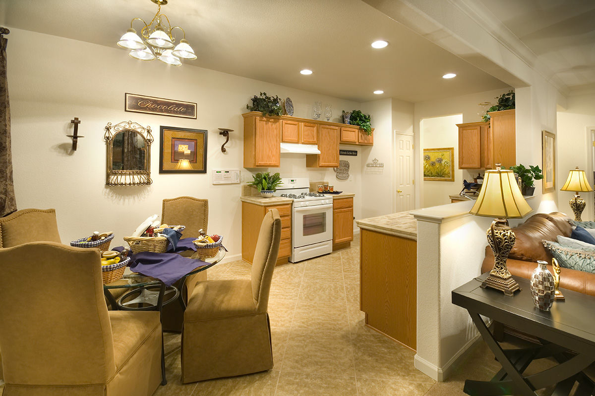 Kitchen and Dining Area in Plan 1366