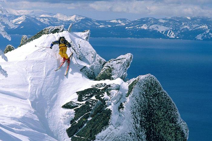 Adventure Skiing at Lake Tahoe